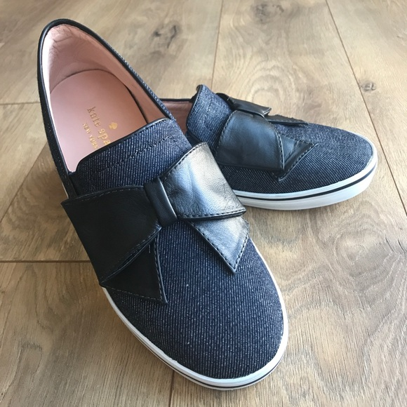 0fbbf9ac80a4 kate spade Shoes - NEW  KATE SPADE Delise Too Denim Bow Slip On Shoes